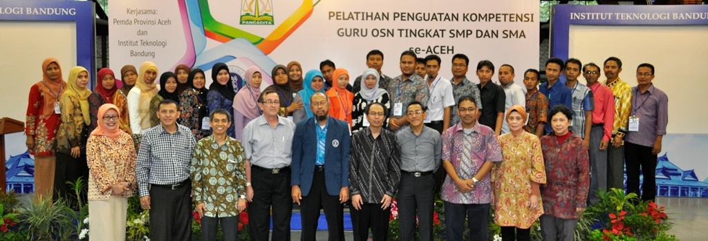Pembukaan Pelatihan Guru OSN Tingkat SMP dan SMA se-Aceh