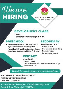 Lowongan Kerja di Mutiara Harapan Islamic School