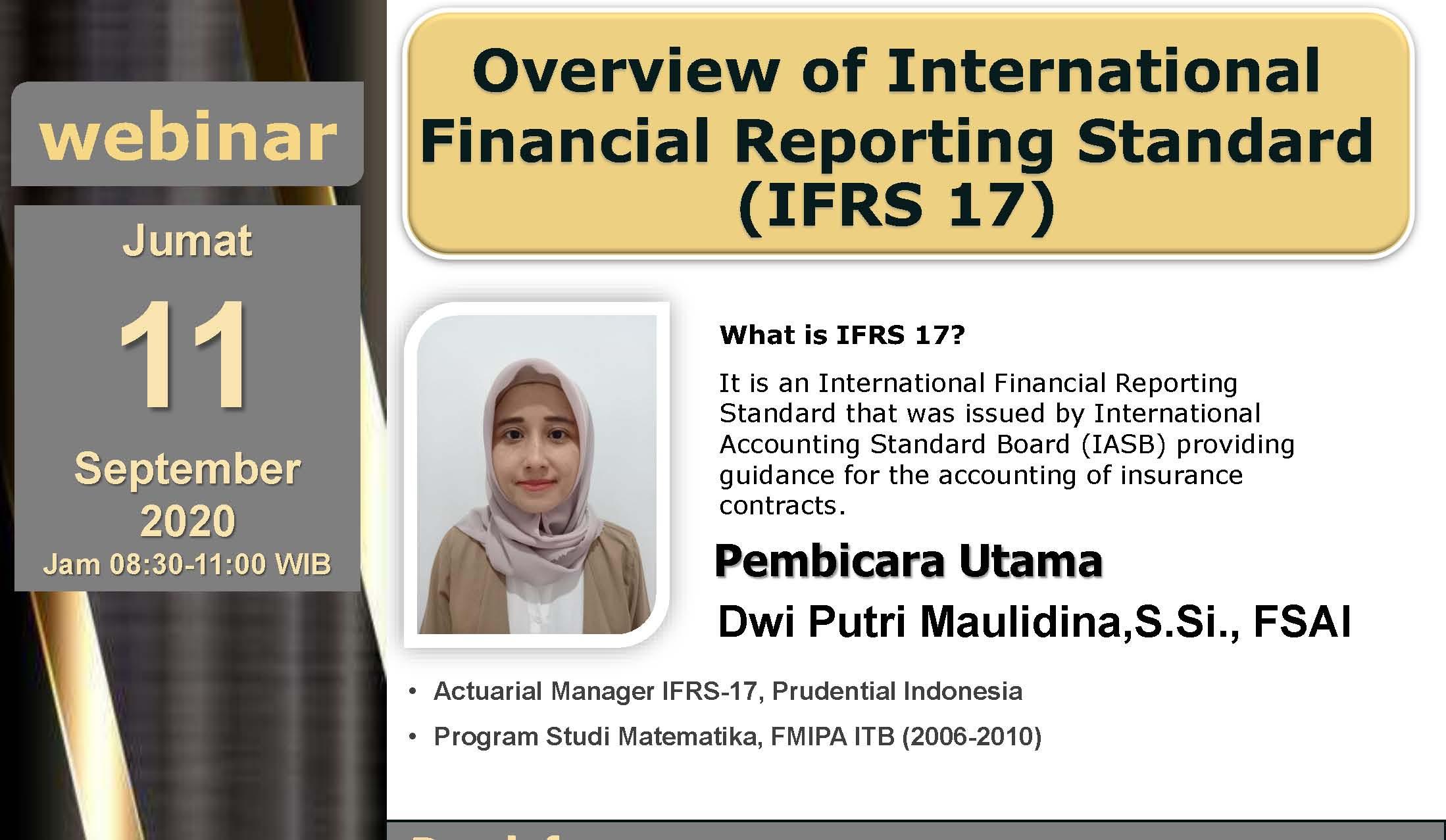 Webinar Overview of International Financial Reporting Standard (IFRS-17)