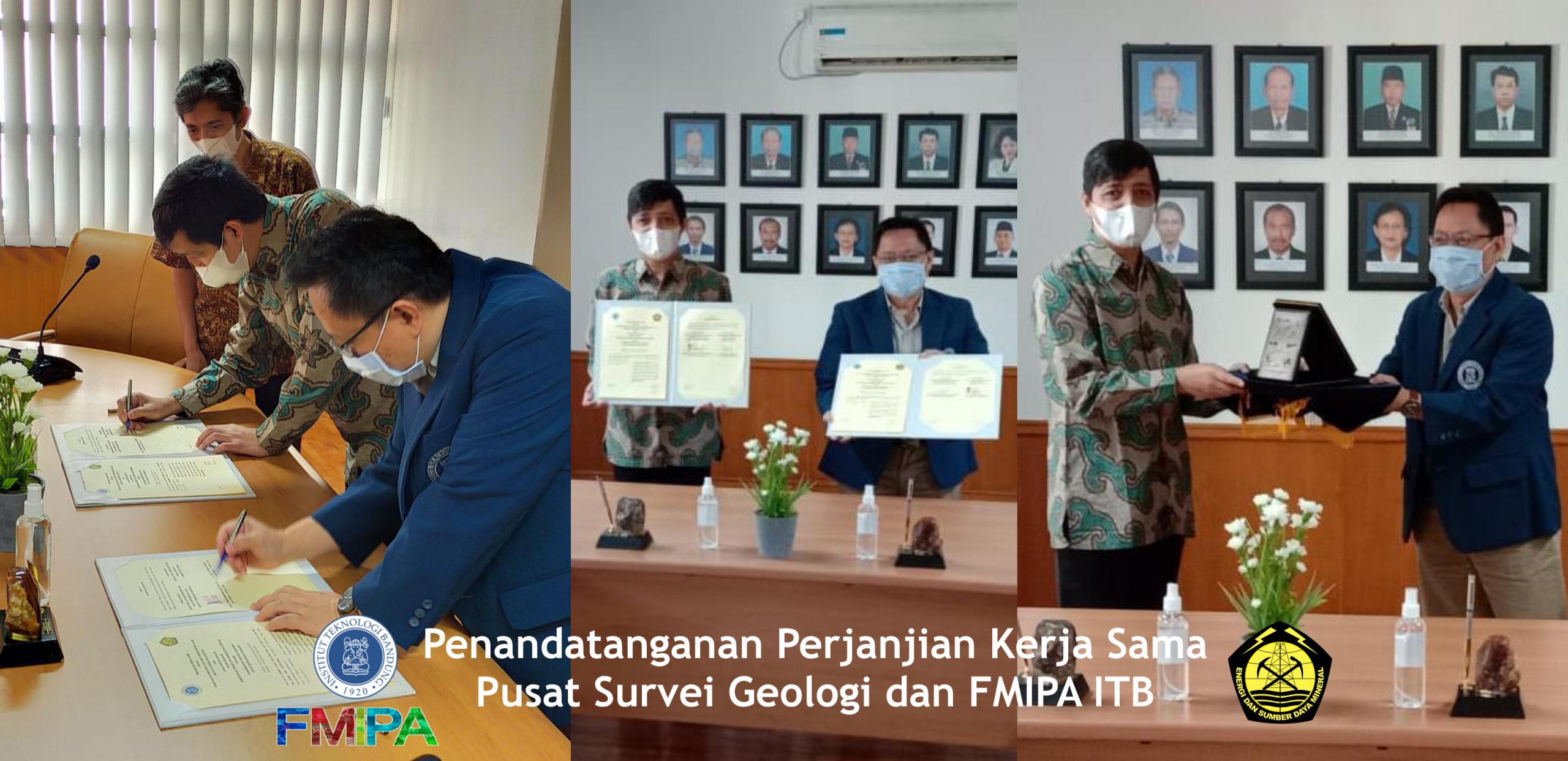 Penandatanganan Perjanjian Kerja Sama Pusat Survei Geologi dan FMIPA ITB