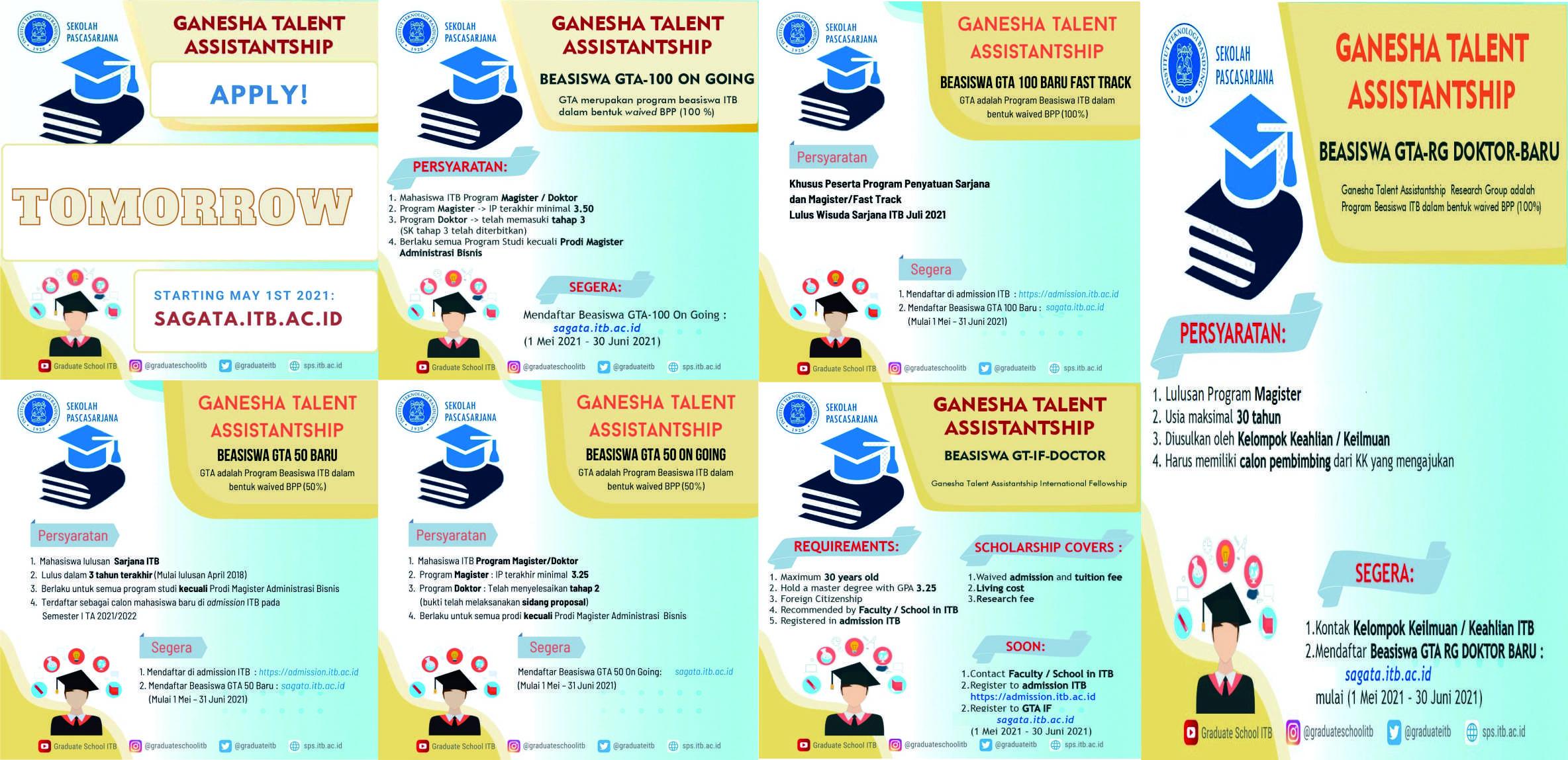 GANESHA TALENT ASSISTANTSHIP BEASISWA GT-IF DOCTOR