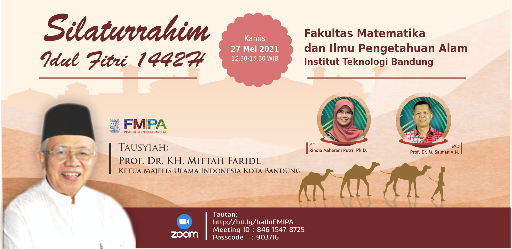 Silaturrahim Idul Fitri 1442H Keluarga Besar FMIPA ITB