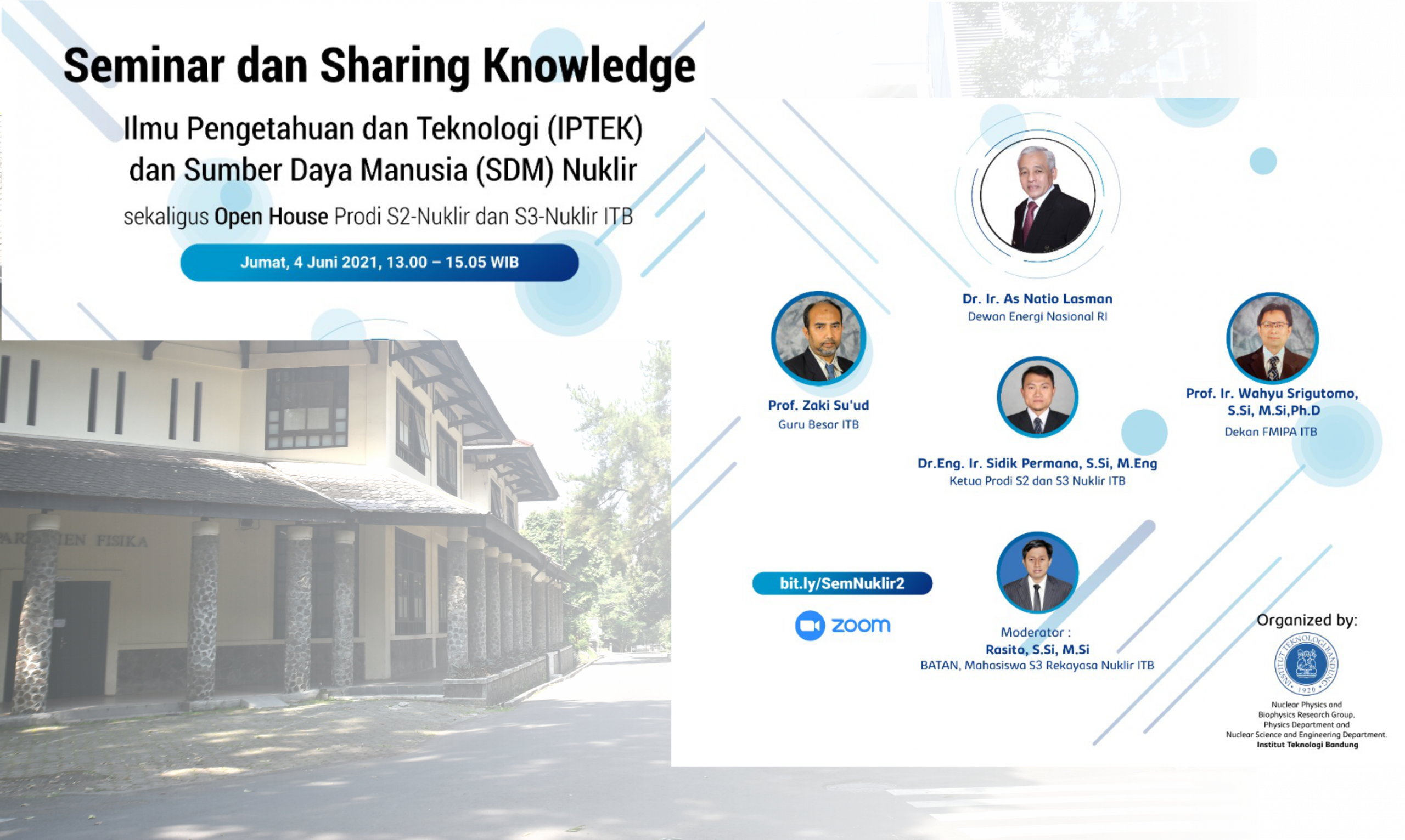 Seminar dan Sharing Knowledge Ilmu Pengetahuan dan Teknologi (IPTEK) dan Sumber Daya Manusia (SDM) Nuklir
