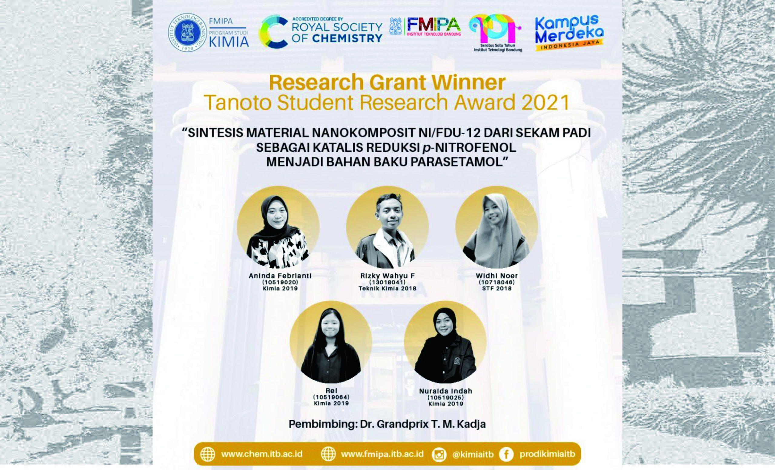 Tanoto Student Research Award 2021